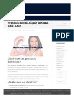 Prótesis Dentales Por Sistema CAD-CAM - Cleardent