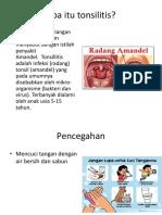 Penyuluhan Tonsilitis