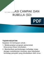Imunisasi Campak Dan Rubella (Sd)