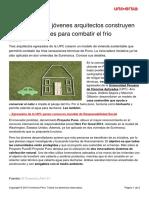 Proyecto Puno Jovenes Arquitectos Construyen Casas Sostenibles Combatir Frio
