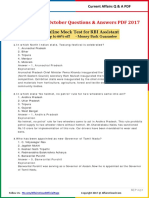 Current Affairs October Question   Answer 2017 PDF by AffairsCloud.pdf