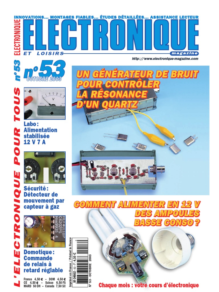 Electronique et loisirs 053 2003 octobre - Comment detecter une fuite de gaz ...