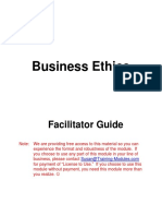 Business Ethics Facilitator Guide