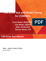 CW Drive Test and Model Tuning Report