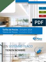 Tabela Preços - Placo 2014