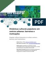 Dinamicas Culturais Populares Em Centros Urbanos