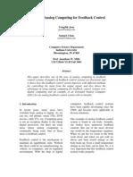 Electronic Analog Computing for Feedback Control