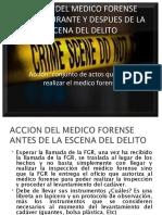 Accion Del Medico Forense Antes, Durante y después de la escena del delito en El Salvador