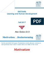 motivation in teaching and learning