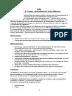 IMA Manual de Procedimiento de La Biblioteca