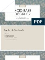 Acid Base Disorder