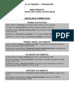 Edital 023 - Referências Bibliográficas