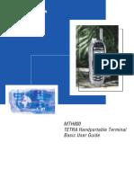 Motorola TETRA MTH800 Basic User Guide En