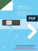 Motorola TETRA MTM800 Enhanced User Guide