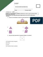 EVALUACION Cuarto Basico Figuras 3d