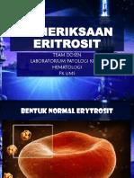 PEMERIKSAAN ERITROSIT