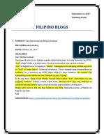 Filipino Blogs