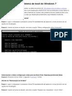 Como Resolver o Problema de Boot Do Windows 7