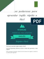 10 Dicas Poderosas Para Aprender Inglês Rápido e Fácil