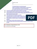 Declaration of Graduate Modules for Credit FAQ