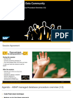 ABAP for HANA ABAP Managed Database Procedure Overview 1-2 Sep 2015