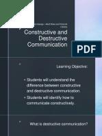 constructive and destructive communication