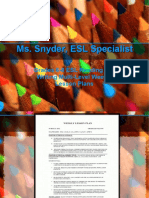 ESL GRADES 6-8 INSTRUCTIONAL PLANNING