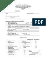 Labor Complaint Form Revised