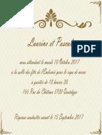 Mariage Invitation Card