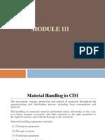 Material handling in CIM