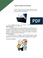 Definición y Tipos de Informes en Auditoria Inf