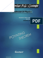 Poynting Theorem