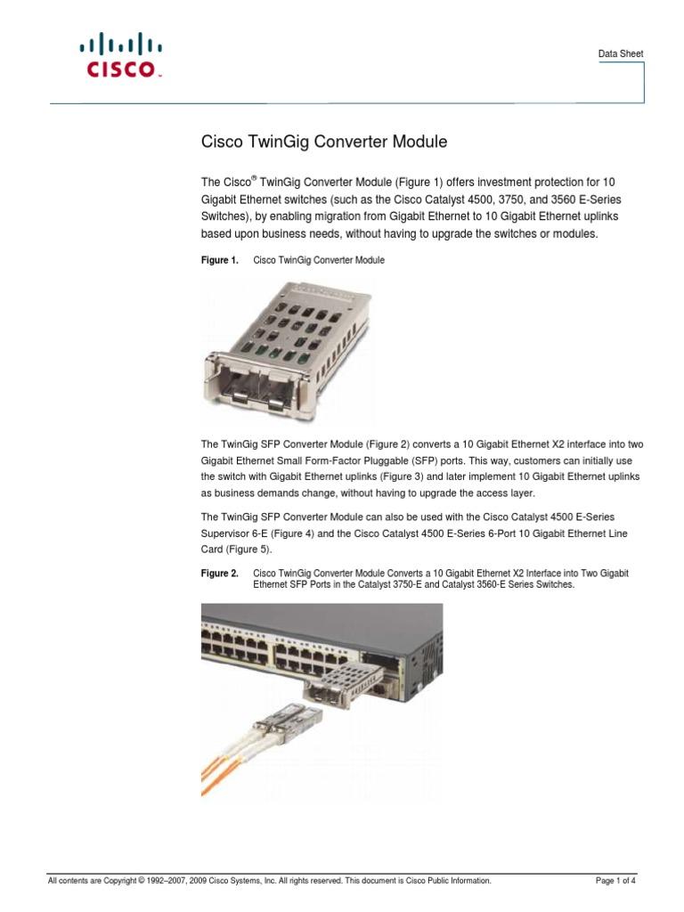 Figure 1  Cisco Twingig Converter Module