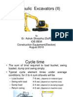 Hydraulic Excavators (Classnote-2) | Volume | Soil