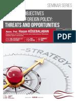 CIGA Seminar Series I - Strategic Objectives of Turkish Foreign Policy