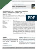Artigo 4_Functional Diversity of Fish in Tropical Estuaries_A Traits-based Approach of Communities in Pernambuco Brazil