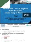 NRLP -GK Workshop ICRISAT- 30-08-2007- Irrigation Benefits