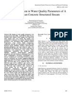 Seasonal Variation in Water Quality Parameters of a West African Concrete Structured Stream 1