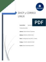 Config Dhcp y Correo - Linux