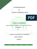 internship report of mcb 2010