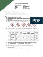Pts Kimia Kelas x 2017