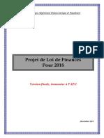 Projet de La Loi de Finance Pour 2018