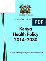 Kenya Health Policy 2014 2030