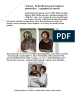 Clean an Oil Painting Authentication and Analysis Can Over Restored Repainted Art Be Saved