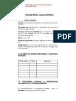 Protocolo del Informe de Terapia Familiar Sistémica