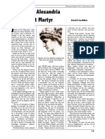 Hypatia of Alexandria - Humanist Martyr