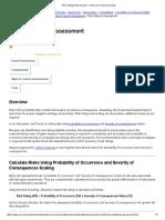 Risk Rating & Assessment