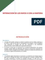u.d. 6 Interaccion de Los Rayos x Con La Materia