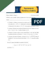 Calculo de Varias Variables. Examen