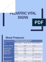 Pediatric Vital Signs